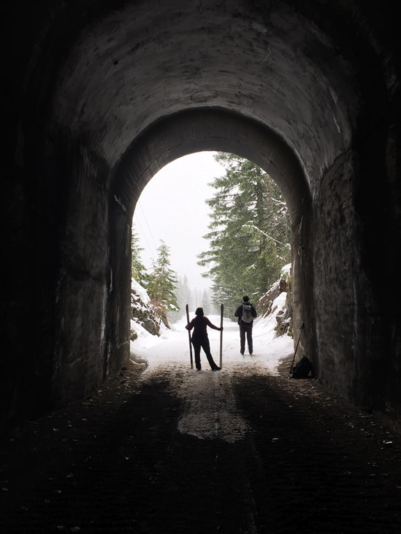 Whittier tunnel on the Iron Horse trail
