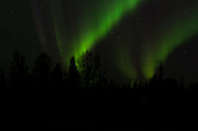 One of the reasons March is the best time to visit Fairbanks Alaska is it's the best time of year to look for the northern lights swirling and waving across the sky