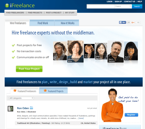freelance websites ifreelance
