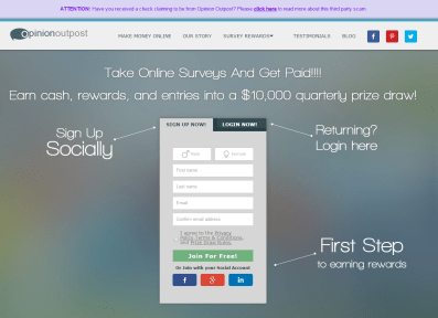 how to make money with paid surveys with opinion outpost