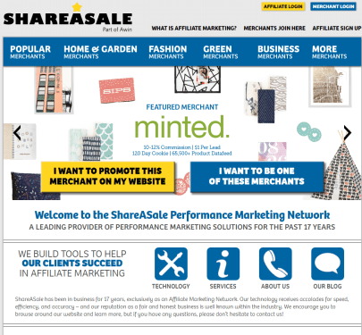 monetize your blog with affiliate marketing - shareasale