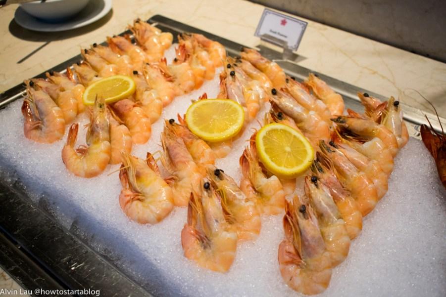swiss garden buffet dinner prawns