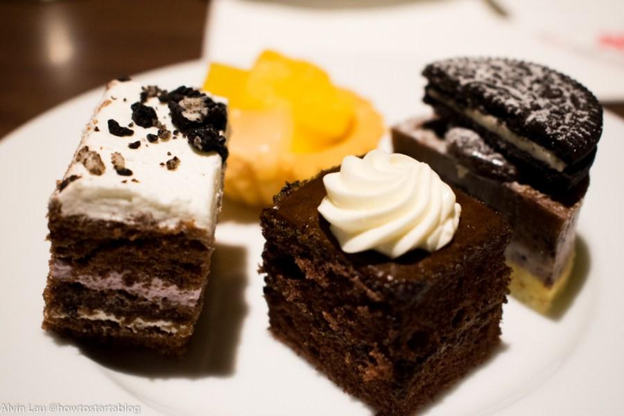 swiss garden buffet dinner cakes