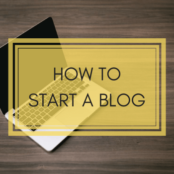 how to start a blog 2018