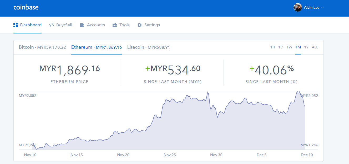 selling cryptocurrency coinbase