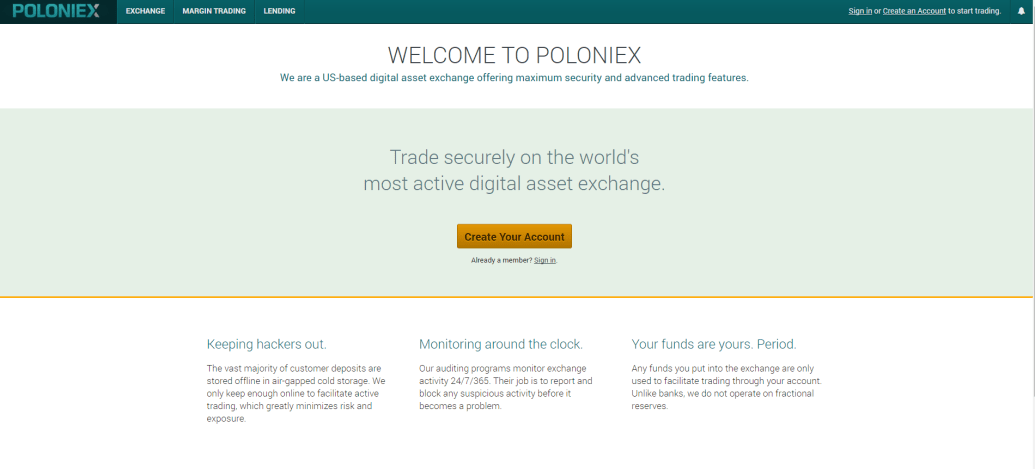 bitcoin exchanges - poloniex