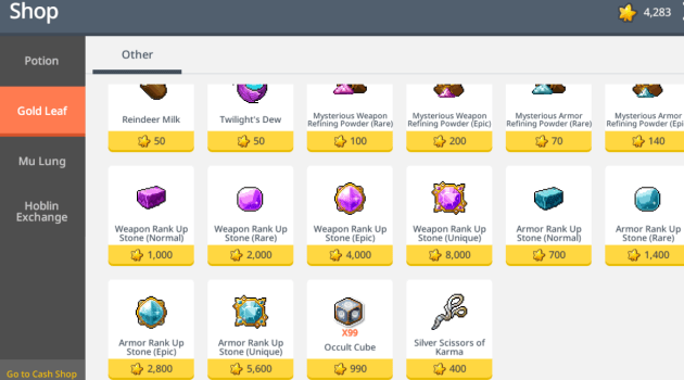 MapleStory M – How To Get Rank Up Stones