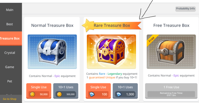maplestory m legendary equipment
