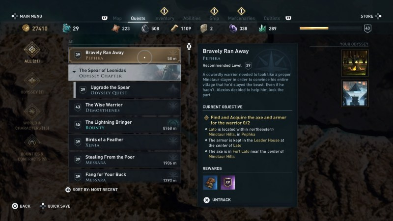 ac-odyssey-bravely-ran-away-quest-guide