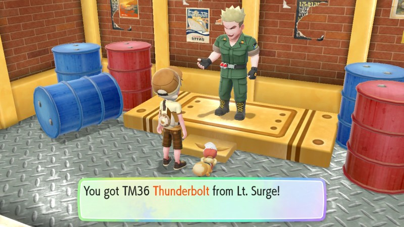 pokemon let's go vermilion city gym walkthrough