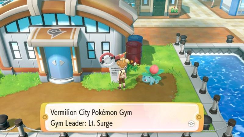 pokemon let's go vermilion city gym