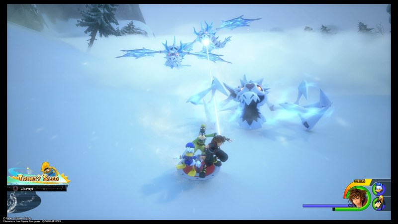 kingdom-hearts-3-arendelle-the-north-mountain-avalanche-avoid-heartless