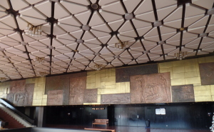 National Palace of Culture: Check out that ceiling!  And the wall plaque!  So cool!