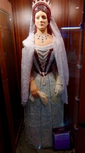 A life-size lady made entirely of marzipan!  Delish!