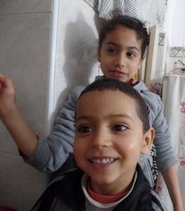 Neda and Amin--Moroccan children are pretty darn cute!!