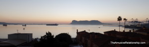 Gibraltar as seen from Algeciras, Spain