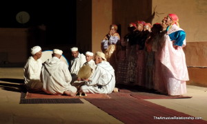 A traditional Amazigh 'ahidous' performance