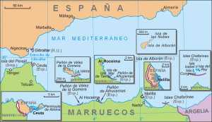 """Mapa del sur de España neutral"" by Ecemaml - From Polish Wikipedia, translated to Spanish and neutralized.. Licensed under CC BY-SA 3.0 via Commons - https://commons.wikimedia.org/wiki/File:Mapa_del_sur_de_Espa%C3%B1a_neutral.png#/media/File:Mapa_del_sur_de_Espa%C3%B1a_neutral.png"