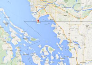 The tiny peninsula of Point Roberts, Washington State