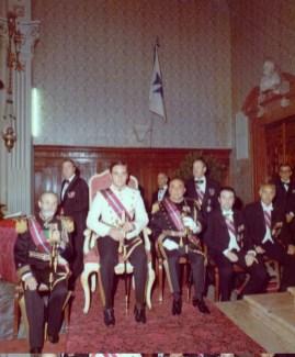 conte Federico Abbate de Castello ad una cerimonia dell Ordine Militare di S. Brigida a Padova 1974