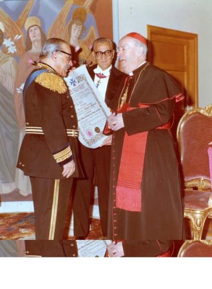 investitura a Gran Priore dellOrdine di S. Brigida del Card Ottaviani