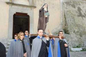 La statua di Santa Brigida restaurata dall'Ordine