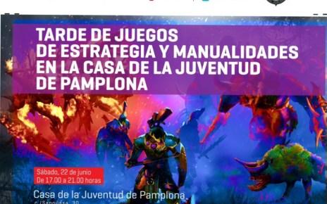 Tarde de juegos de estrategia y manualidades en la casa de la juventud de Pamplona