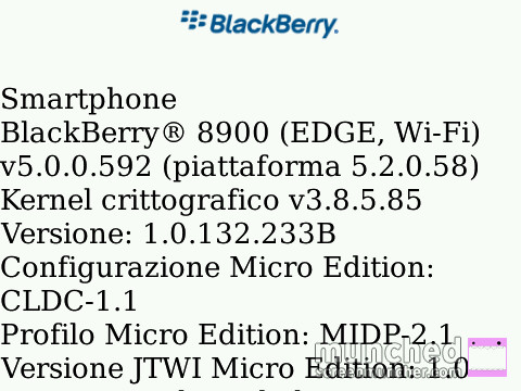 Versione OS BlackBerry