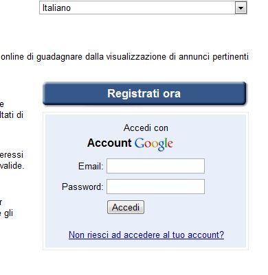 Google Adsense Registrazione