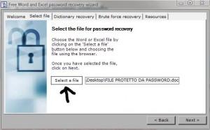 Scovare pass Word