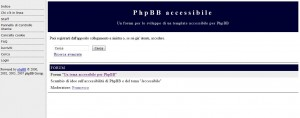 Tema Accessibile per PhpBB Home