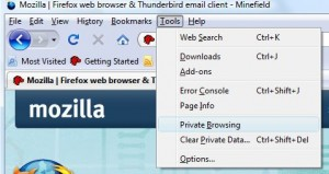 Firefox 3.1: Private Browsing