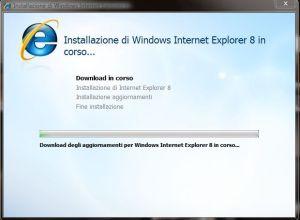 Internet Explorer 8: Installazione