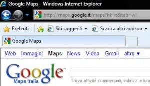 Internet Explorer 8: Barra degli indirizzi
