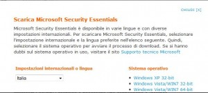 Download Microsoft Security Essentials