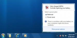 Windows 7 problema batteria