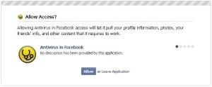 Approvazione Antivirus Facebook