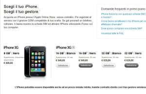 Prezzi iPhone 3gs