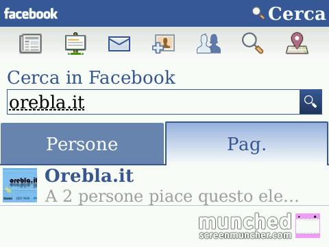 BlackBerry Facebook Search