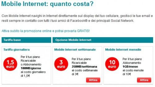 Vodafone Mobile Internet Nuove tariffe