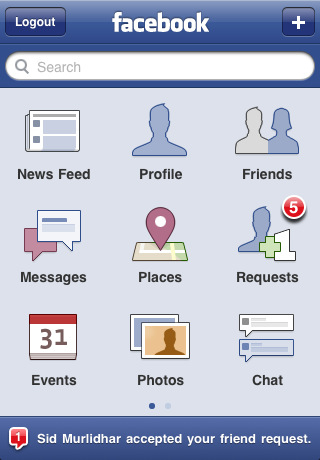 Facebook App iPhone 4