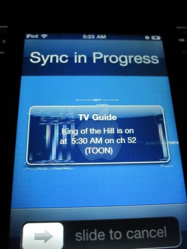 iPod Touch 4 problemi grafica notifica dopo iOS 4.3 update