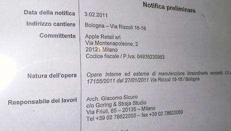 Apple Store Bologna Notifiche lavori