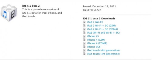 iOS 5.1 beta 2 download