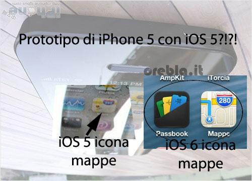 Prototipo iPhone 5 analisi icona mappe
