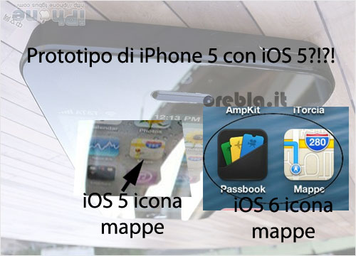 Prototipo iPhone 5 analisi icona mappe
