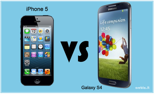iPhone 5 contro Galaxy S4