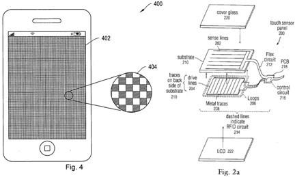 brevetto apple su iphone feedback tattiel
