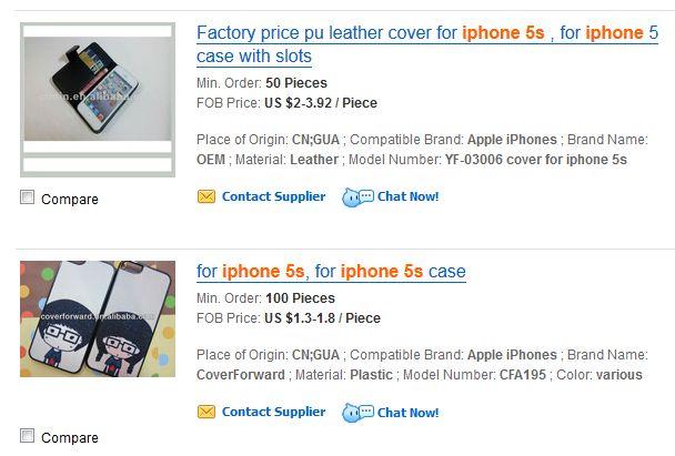 iphone 5s bumper e cover in vendita