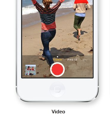ios 7 zoom video